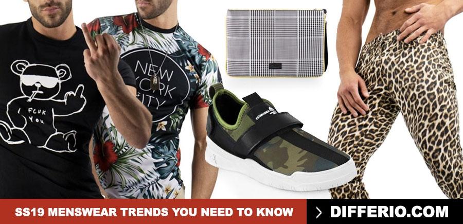 Menswear SS19 Trends