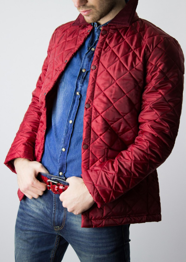 Red Quilted Jacket Lavenham